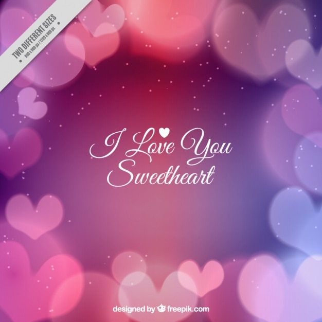 Shiny Hearts Background With Cute Message Free Vector
