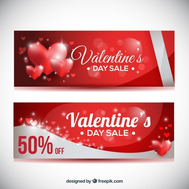 4c2dbc1674 Shiny hearts offer coupons for valentine day Vector | Free Download