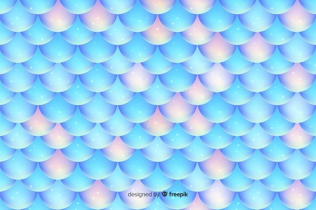 Fondo olografico brillante della coda della sirena Vettore gratuito