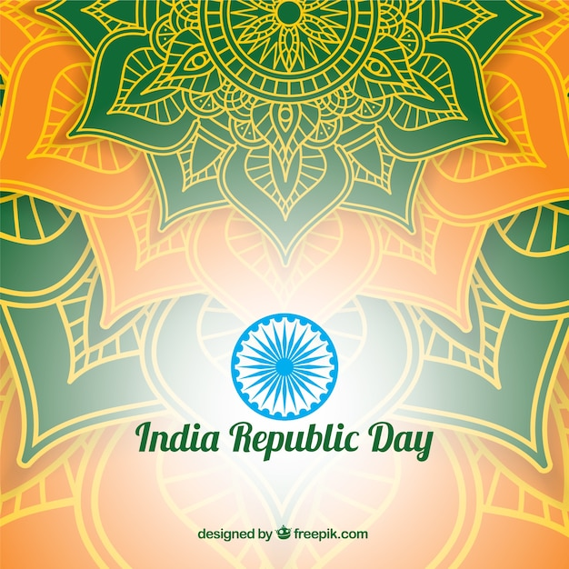 Shiny indian republic day design Free Vector