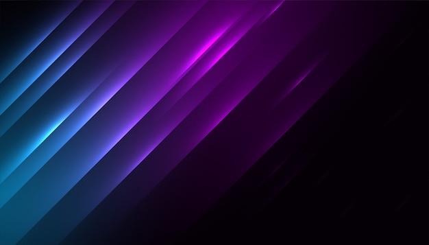 Design di sfondo carta da parati effetto linea luci lucide Vettore gratuito
