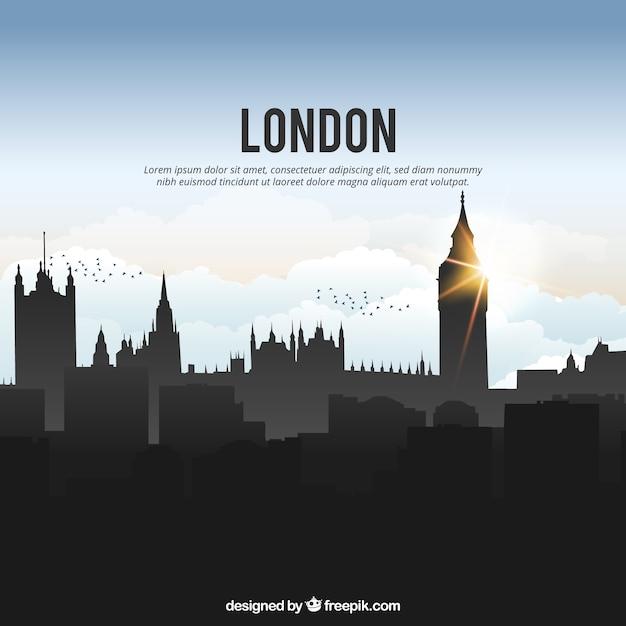 Shiny london skyline Free Vector
