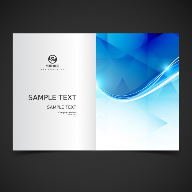 Shiny Modern Brochure Design Vector | Free Download