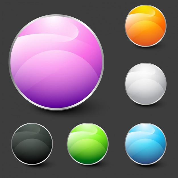 Shiny modern circles Free Vector
