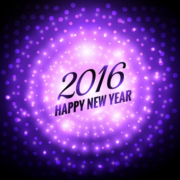 Shiny new year 2016 background in purple color