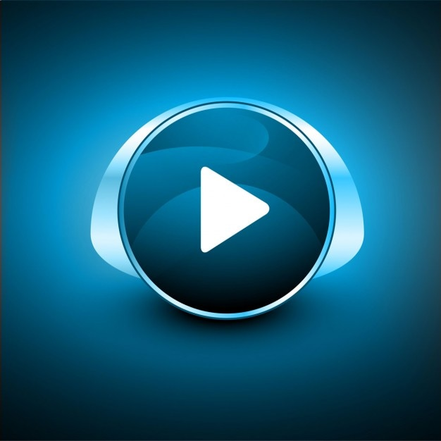 Shiny play button Free Vector