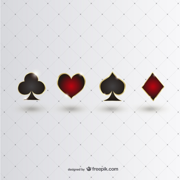 Блестящие символы покер Бесплатные векторы