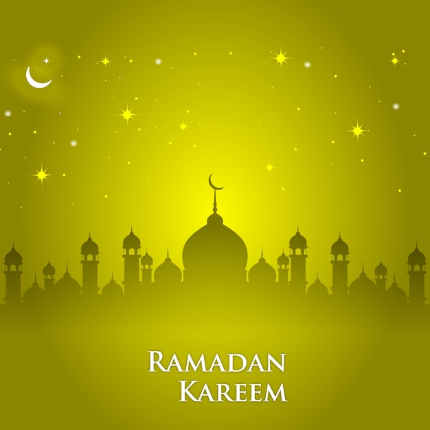 Shiny ramadan background Vector | Free Download
