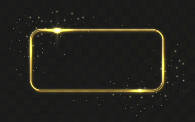 Shiny rectangle on black background Free Vector