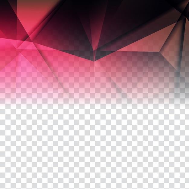 Moderno disegno poligonale su sfondo trasparente Vettore gratuito