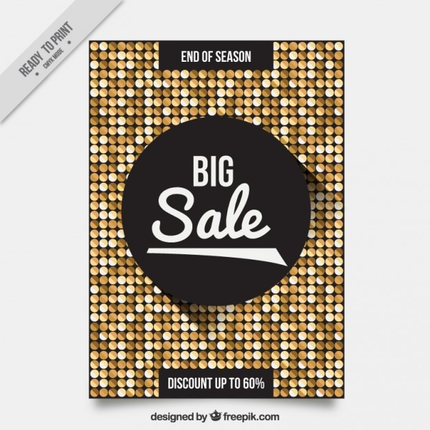 Shiny sale flyer template Vector – Sales Flyer Template