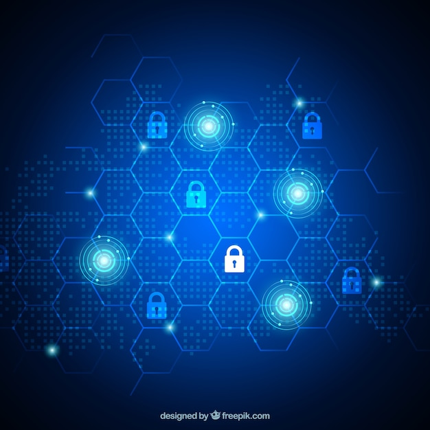 Shiny security background with padlocks Free Vector