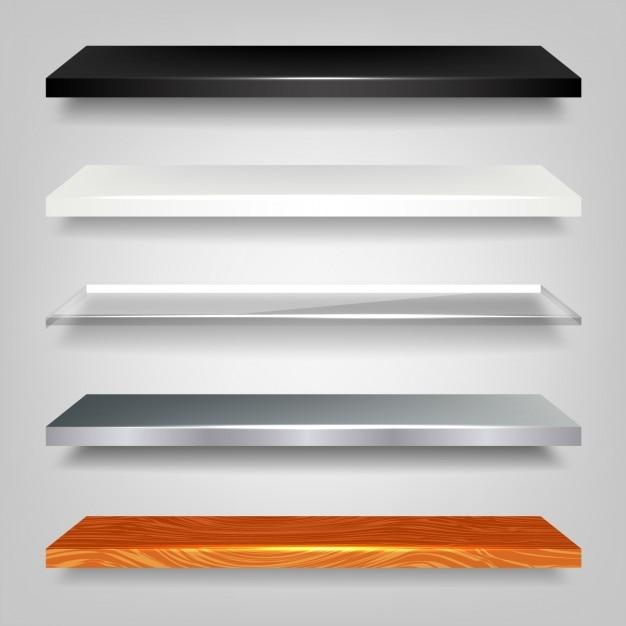 Shiny shelf pack Free Vector