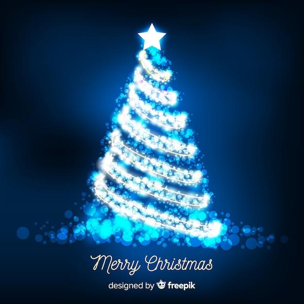 Blue Christmas Tree Wallpaper: Shiny Silver Christmas Tree Background Vector