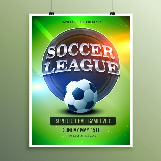 Shiny soccer league poster