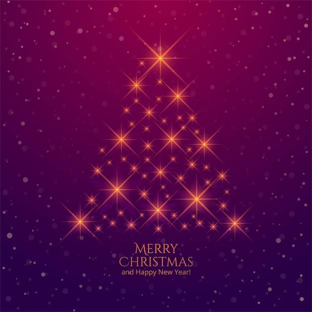 Shiny sparkles creative christmas tree background Free Vector