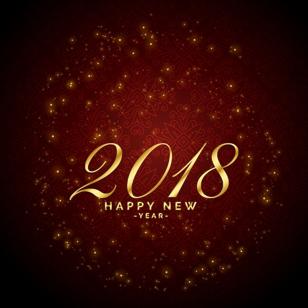 Shiny sparkles red background for 2018 happy\ new year celebration