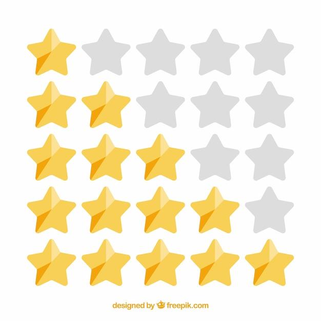 Блестящая концепция рейтинга звезд Premium векторы