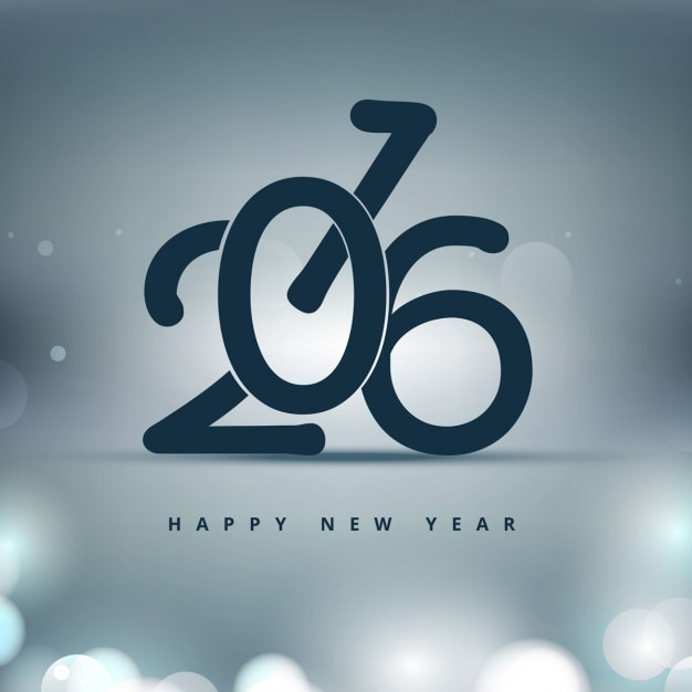 Shiny stylish new year 2016 background