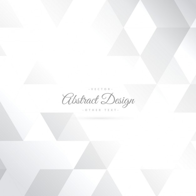 Shiny triangle shape white background Free Vector