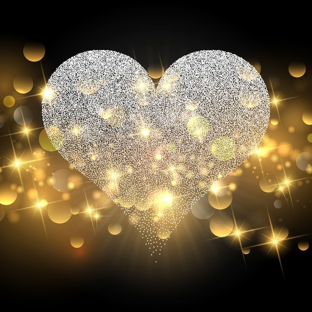 Shiny valentines day background Vector | Free Download
