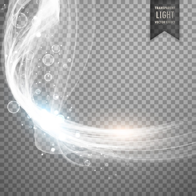 Shiny white light effect Free Vector