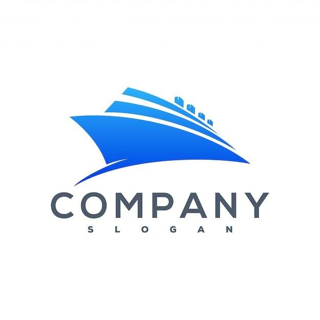 Ship logo Premium Vector