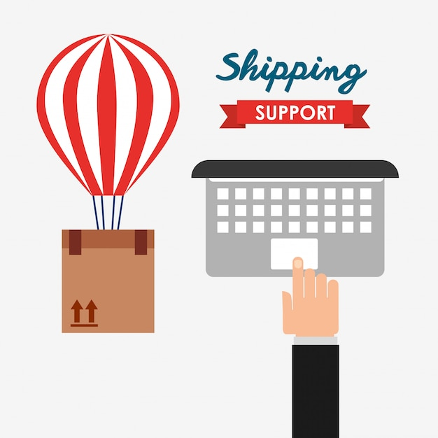 Shipping support illustration Free Vector