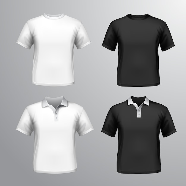 Shirt mock up collection vector premium download for T shirt mockup vector free