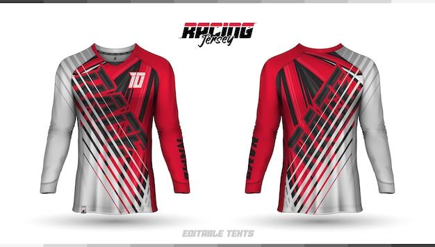 Modello di camicia, design della maglia da corsa, maglia da calcio Vettore gratuito