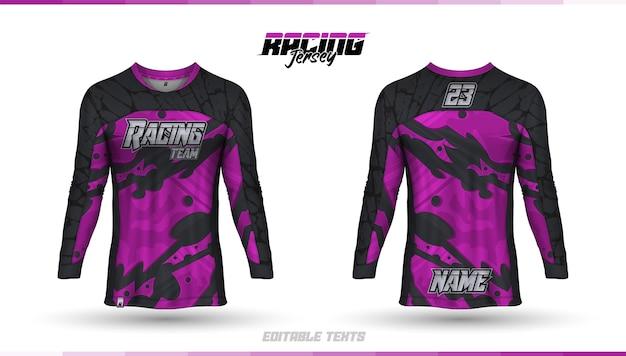 Shirt template, racing jersey design, soccer jersey Free Vector