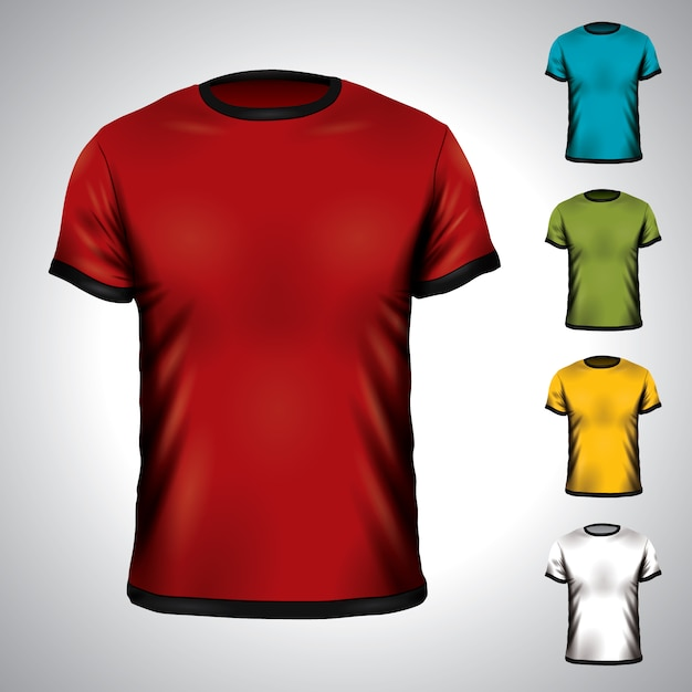 Shirt templates collection Free Vector