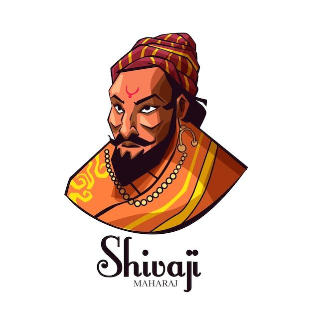 Avatar di illustrazione shivaji maharaj Vettore gratuito
