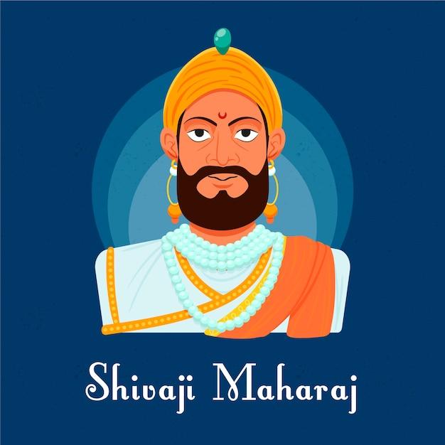 Concetto di illustrazione shivaji maharaj Vettore gratuito