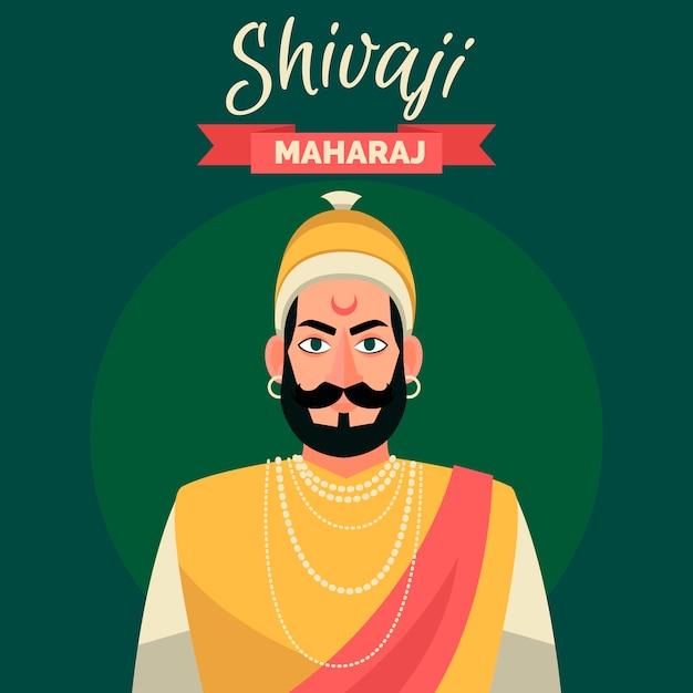 Tema illustrazione shivaji maharaj Vettore gratuito