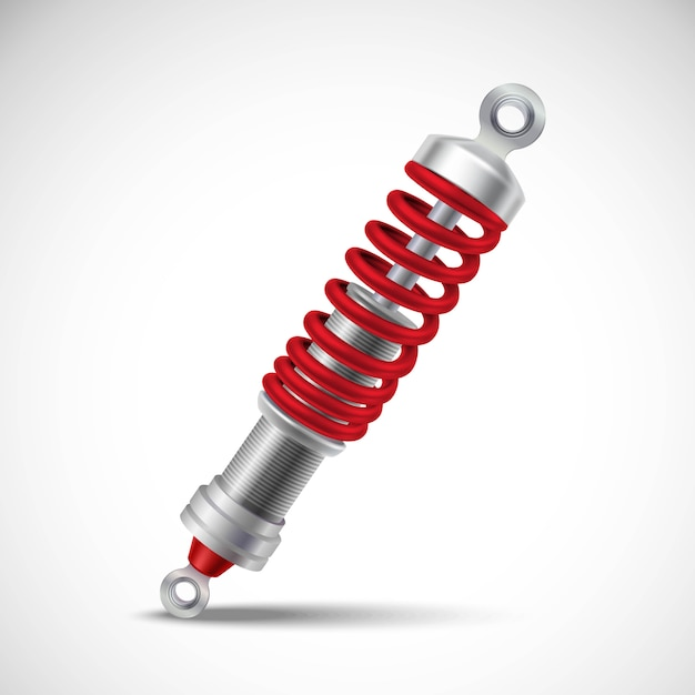 Shock absorber realistic Free Vector