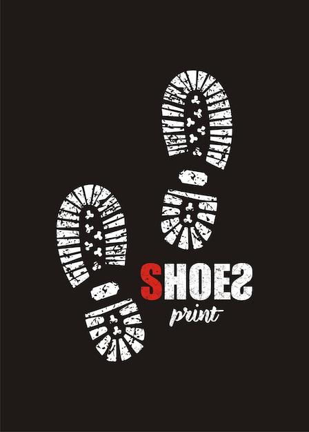 Shoes print Premium Vector