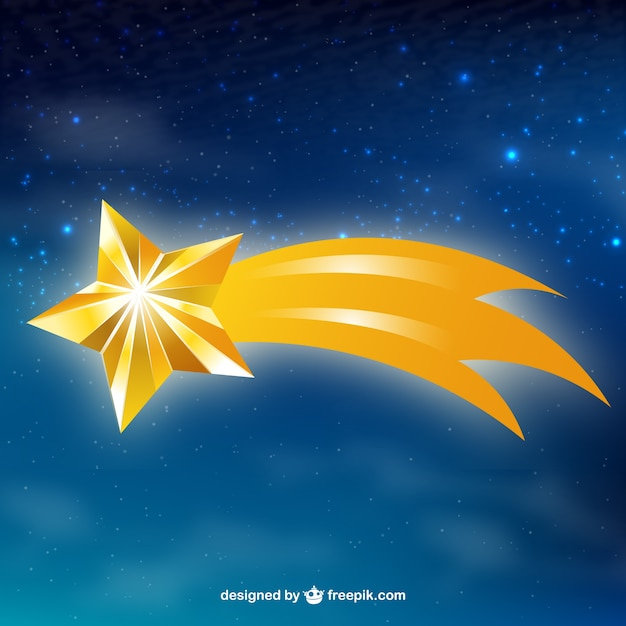 shooting star background vector free download