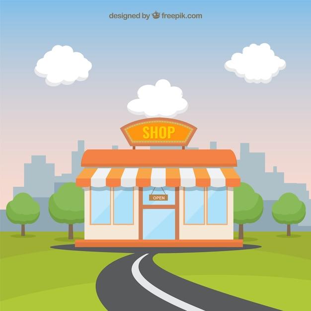 Shop illustration Free Vector