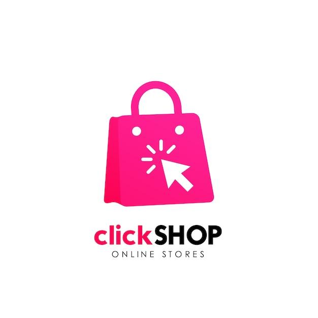 Shop logo icon design. online shop logo design template Premium Vector