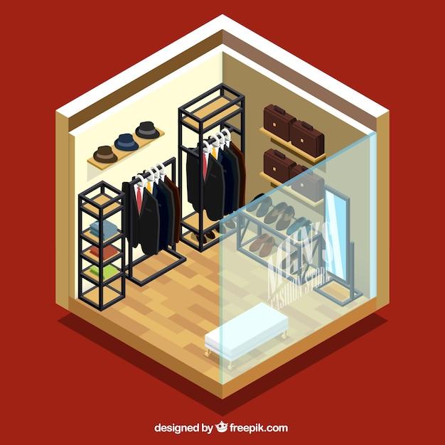 فروشگاه لباس نمایش ایزومتریک