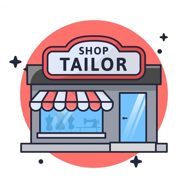 Shop tailor store illustration Premium Vector