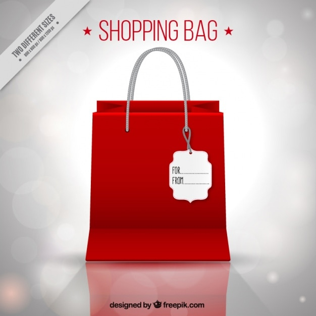 Shopping bag background with bokeh effect Vector | Free Download