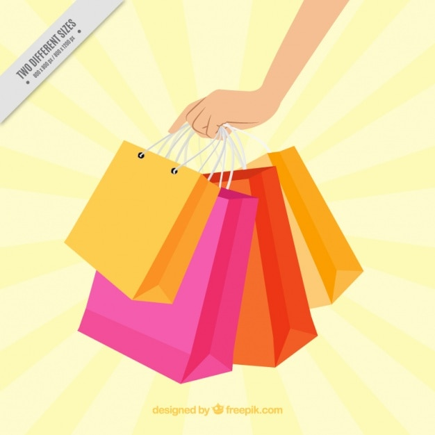 shopping bag background vector free download