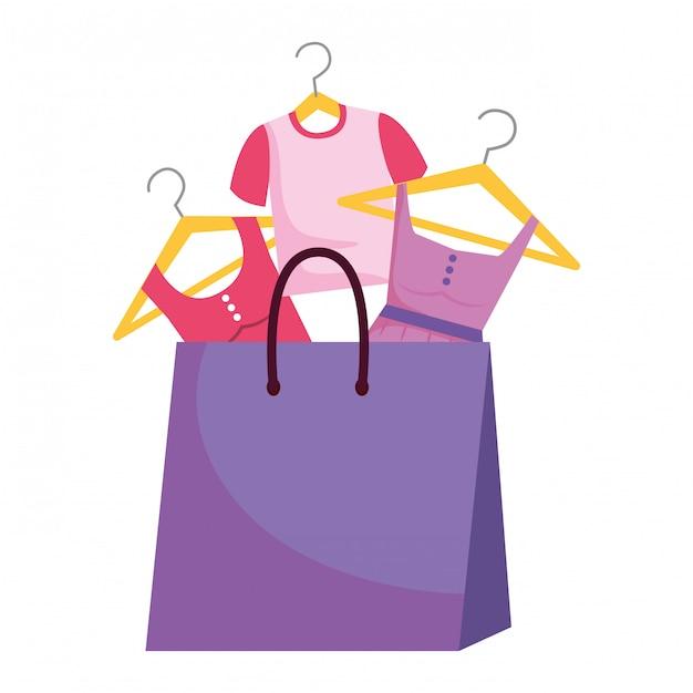 Shopping bag icon illustration Premium Vector