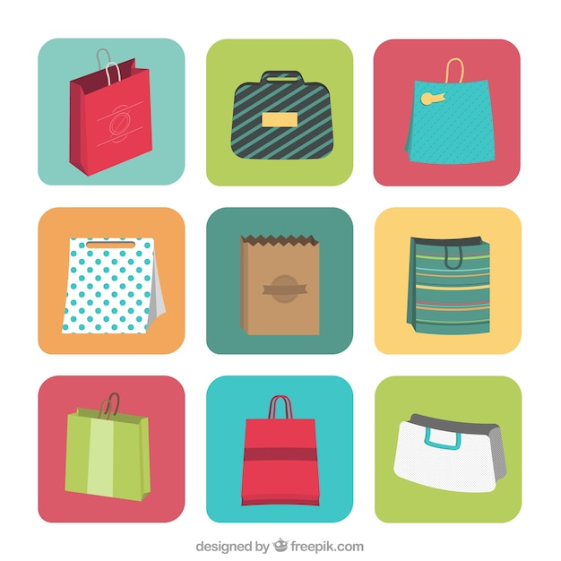 Shopping bag labels Free Vector