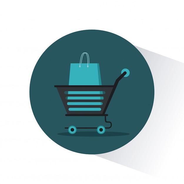 ショッピングバッグストア Premiumベクター