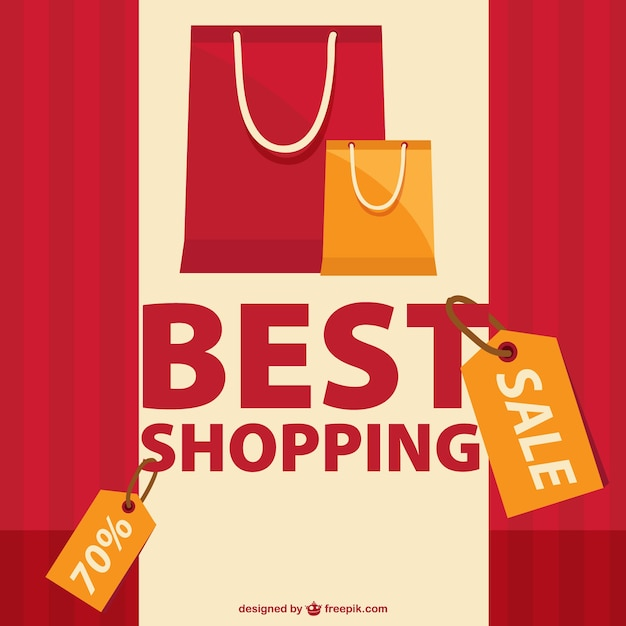 Shopping bags and sales tags Vector | Free Download