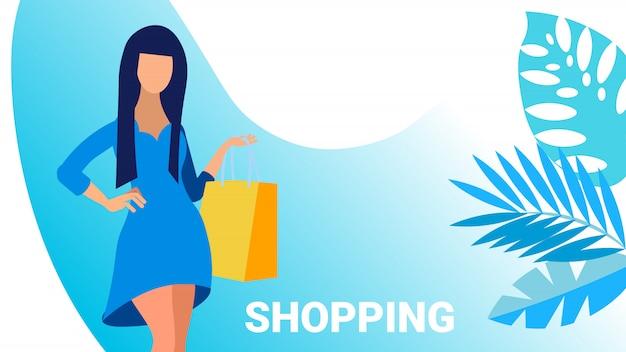 Shopping banner Premium Vector