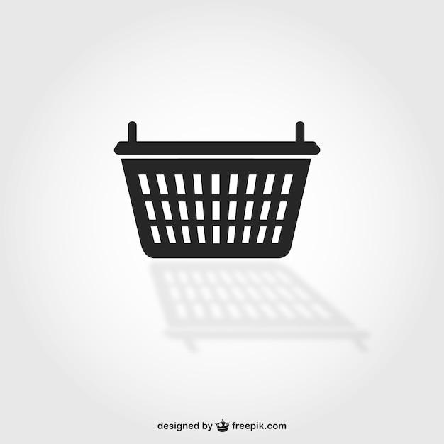 Shopping basket symbol Free Vector